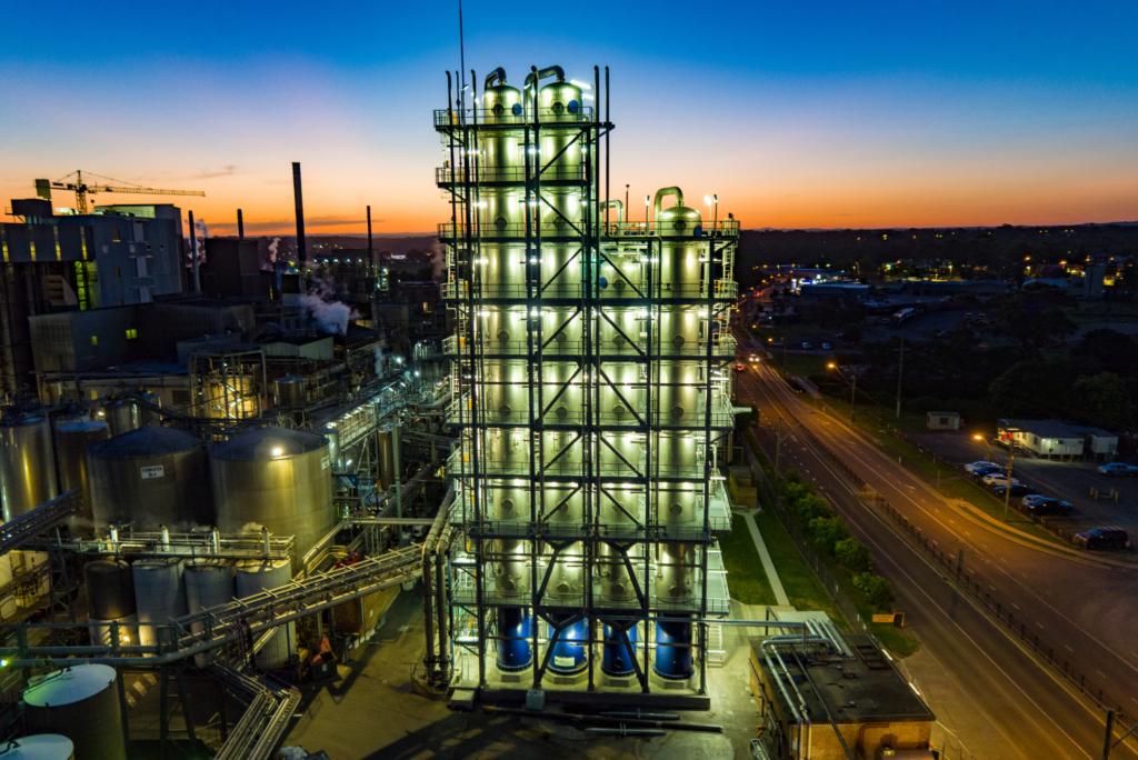 World Class Distillery Lights Up Night Sky