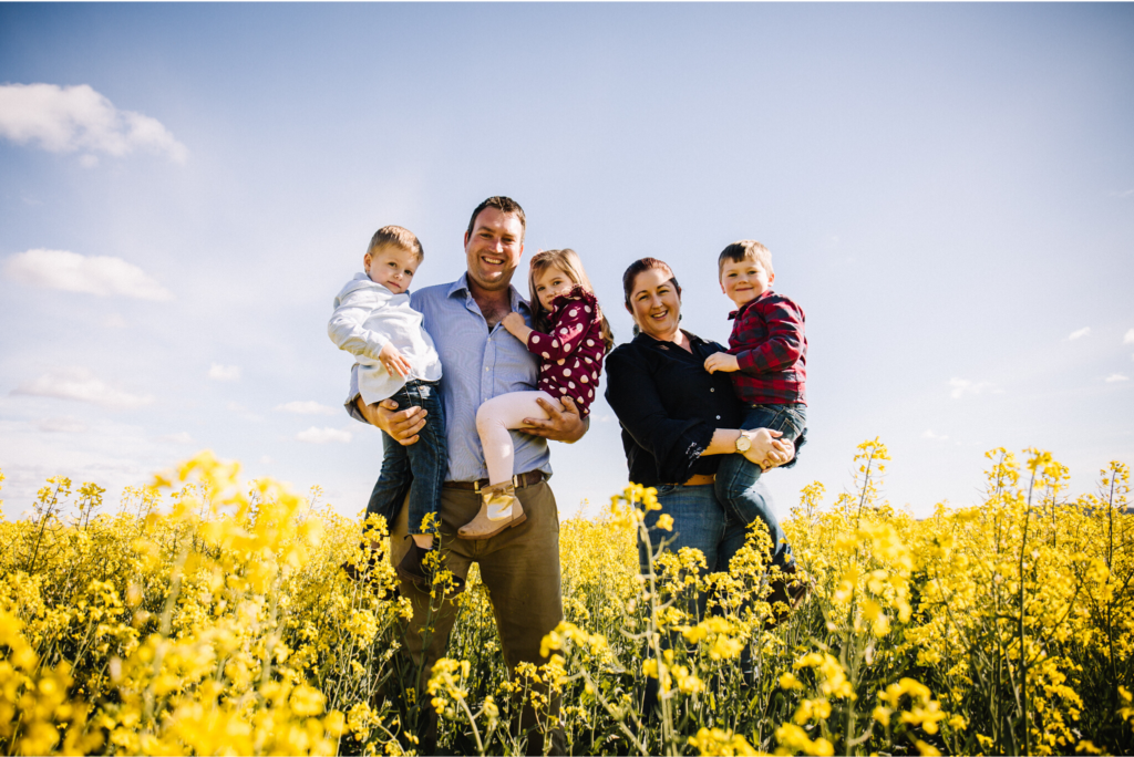Family Farming among Fields of Gold