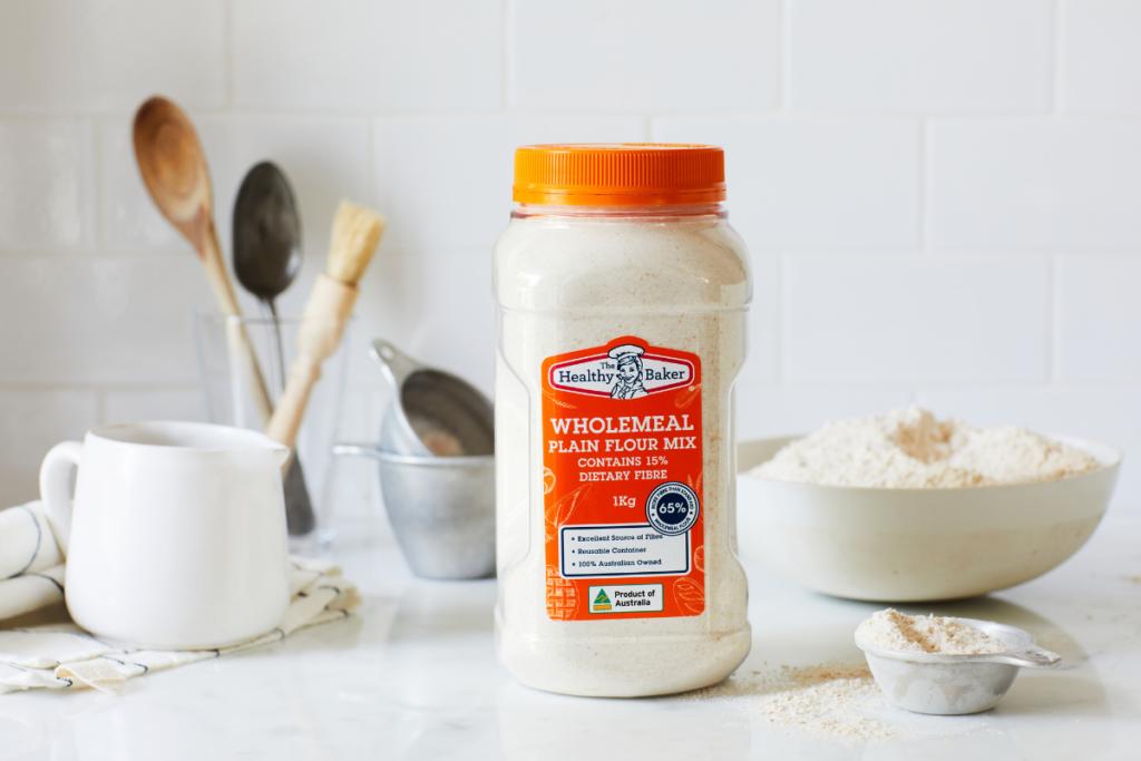 Fibre enriched flour for wholemeal nutrition
